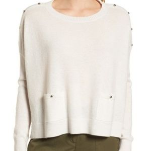 Nordstrom Signature Button Detail Cashmere Sweater